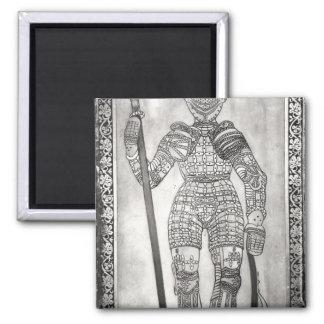 Placa que representa la armadura de Juana de Arco Imanes Para Frigoríficos