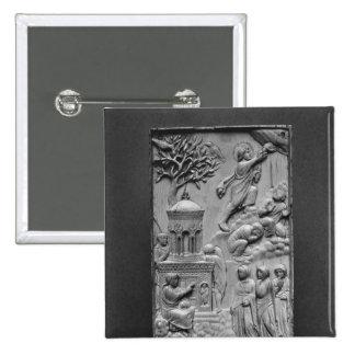 Placa que representa la ascensión pin cuadrada 5 cm