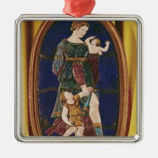 Placa que representa la caridad, Lemosín, 1559 Ornamentos Para Reyes Magos