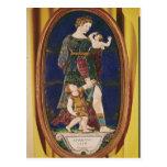 Placa que representa la caridad, Lemosín, 1559 Postal