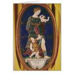 Placa que representa la caridad, Lemosín, 1559 Tarjeta De Felicitación