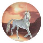 Placa real del unicornio platos