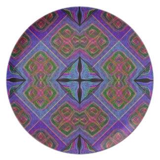 Placa recta Morphed de la teja del edredón Plato