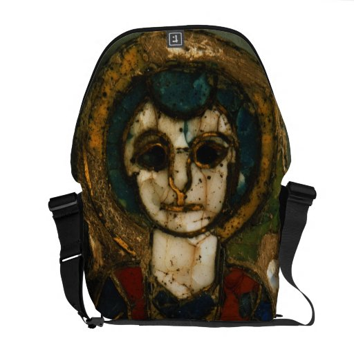 Placa redondeada, representando Cristo o a un sant Bolsa Messenger