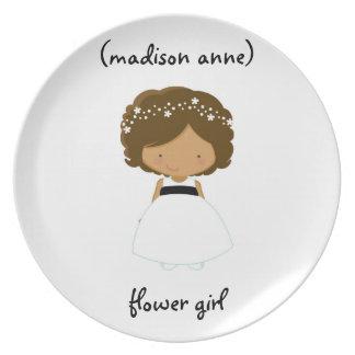 Placa/regalo personalizados del florista plato de comida