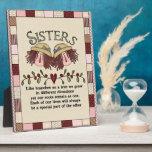 Placa remilgada del poema de las hermanas