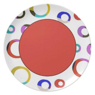 Placa retra de los aros de Colorblock - rojo Plato