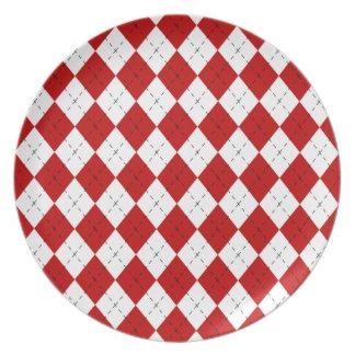 Placa roja de Argyle Platos