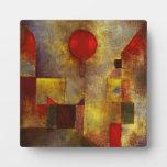 Placa roja del globo de Paul Klee