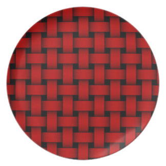 Placa roja del navidad de la armadura plato para fiesta