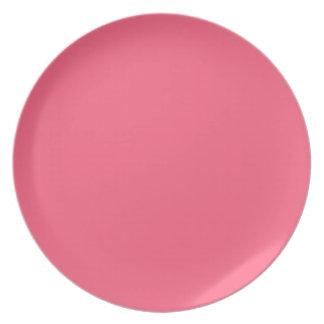 Placa rosada brillante platos para fiestas