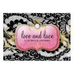 Placa rosada de 311 Lace de Luxe Lavish Tarjetas De Visita Grandes