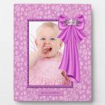 Placa rosada de princesa Crown Baby Photo Frame