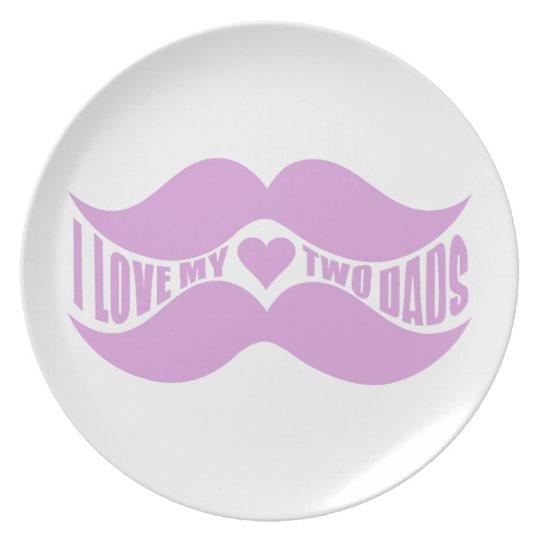 Placa rosada del personalizado de los bigotes plato de cena