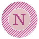 Placa rosada personalizada de la raya