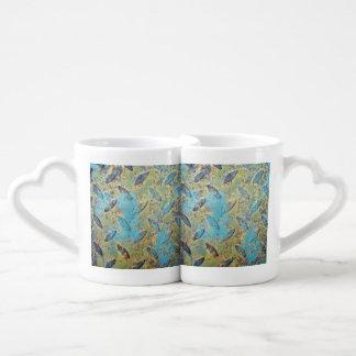 Placa rústica de la pisada taza para parejas