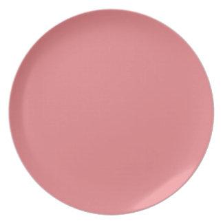 Placa Salmón-Coloreada profunda Plato Para Fiesta