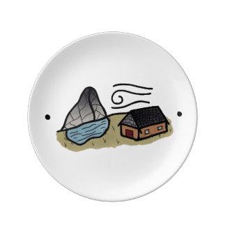 "Placa ""salvaje"" platos de cerámica"