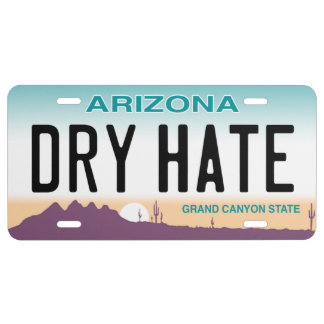 Placa seca del odio de Arizona Placa De Matrícula