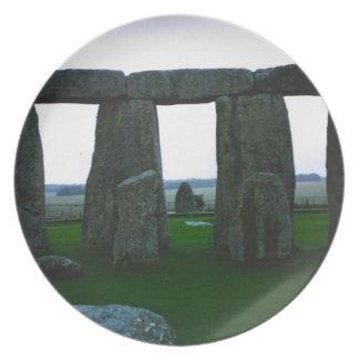 Placa - Stonehenge, Wiltshire, Reino Unido Plato