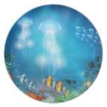 Placa subacuática 7 platos para fiestas