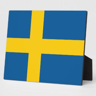 Placa sueca de la bandera