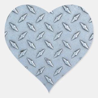Placa tejada del diamante pegatina en forma de corazón