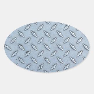 Placa tejada del diamante pegatina ovalada