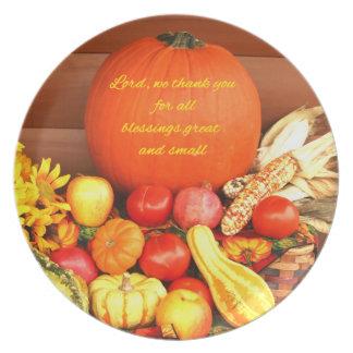 Placa temática de la melamina de la caída original plato