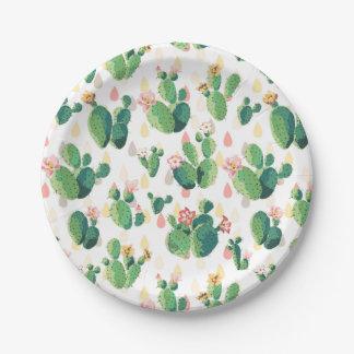 Placa temática del fiesta del jardín peculiar del platos de papel