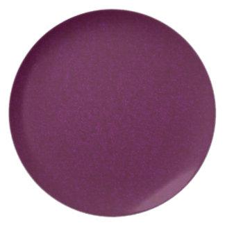 Placa texturizada piedra de color morado oscuro plato