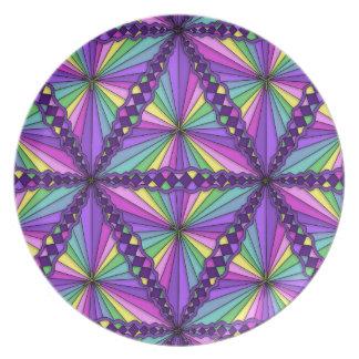 Placa triangular de la melamina de los tesoros plato