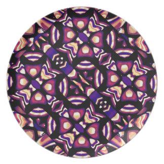 Placa tribal artística plato