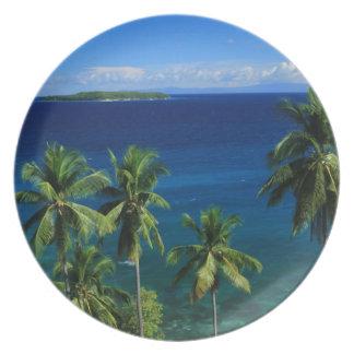 Placa tropical de la isla platos para fiestas