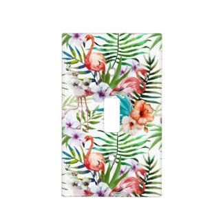 Placa tropical del interruptor de las flores de placas para interruptor