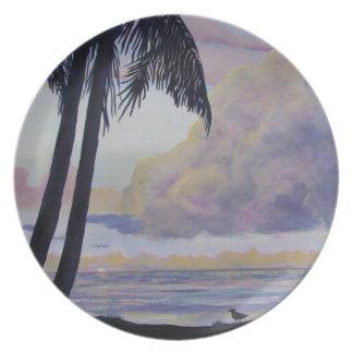 Placa tropical platos para fiestas