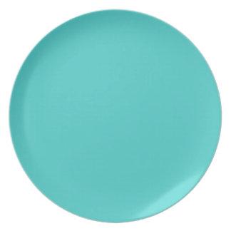Placa Turquesa-Coloreada medio Platos Para Fiestas