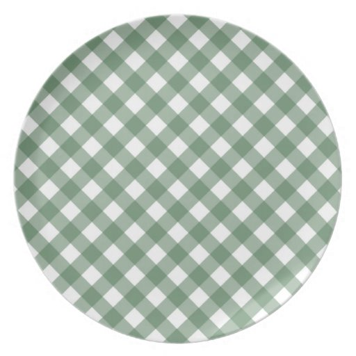 Placa verde de la guinga plato de comida