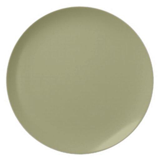 Placa verde del aguacate plato