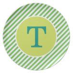 Placa verde personalizada de la raya