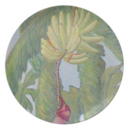 Placa VIEJA de los PLÁTANOS de la FLORIDA Plato
