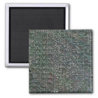 Placa votiva con una inscripción venetic imán cuadrado