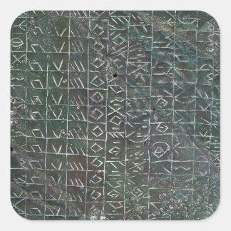 Placa votiva con una inscripción venetic pegatina cuadrada