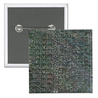 Placa votiva con una inscripción venetic pin cuadrado
