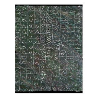 Placa votiva con una inscripción venetic tarjeta postal