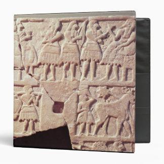 """Placa votiva que representa una escena de carpeta 1 1/2"""""""