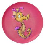 Placa - yoyo el Seahorse Platos