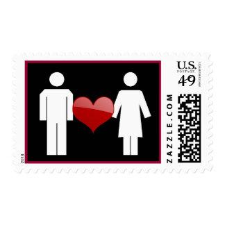 Placard Love (Dark) Postage