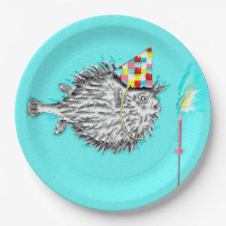placas adultas de la fiesta de cumpleaños plato de papel de 9 pulgadas