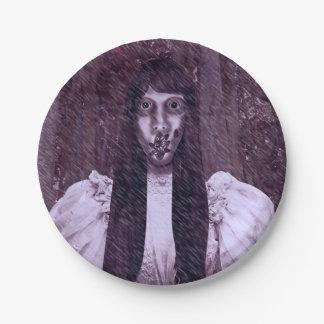 Placas asustadizas del fiesta de Halloween de la Plato De Papel De 7 Pulgadas